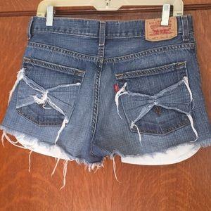 Custom Levi 527 high rise cutoff shorts size 29